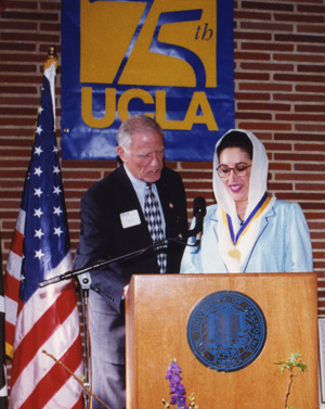Chancellor and Benazir Bhutto