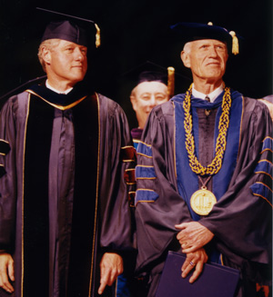 President Bill Clinton and the Chancellor